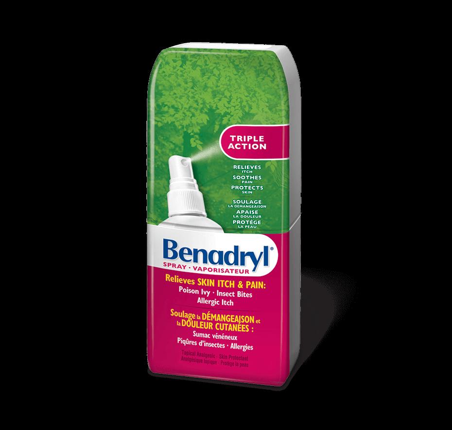 Vaporisateur antidémangeaison Benadryl Triple Action pour piqûres d'insecte