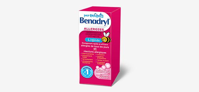 Médicament liquide BENADRYL® pour enfants