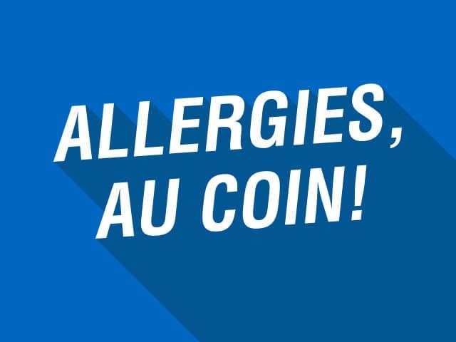 Allergies au coin! Allergies chez les enfants